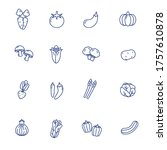 vegetable icons collection in... | Shutterstock .eps vector #1757610878