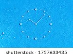 Drops of water in the form of a ...