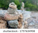 Stone And Rock Stack On Rock...
