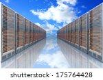 Server Racks In A Row. 3d...
