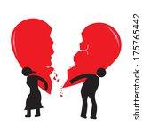 divorce heartache concept....