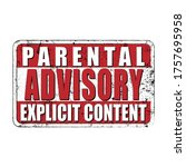 parental advisory explicit... | Shutterstock .eps vector #1757695958