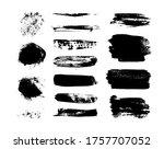 black grungy strokes. dirty... | Shutterstock .eps vector #1757707052