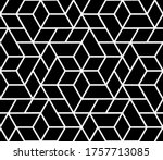 the geometric pattern with... | Shutterstock . vector #1757713085