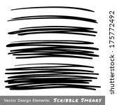 set of hand drawn scribble... | Shutterstock .eps vector #175772492