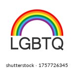 lgbtq logo with rainbow symbol  ... | Shutterstock .eps vector #1757726345