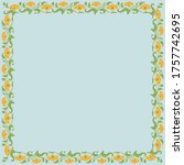 Vintage Square Frame With...