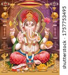 Lord Ganesha With Colorful...