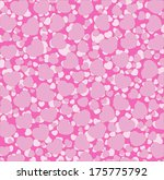 seamless pattern of hearts | Shutterstock . vector #175775792