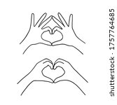 Hand Drawn Vector Outline Hand...