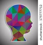 head of polygons | Shutterstock . vector #175777712