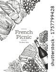 french food illustration design ... | Shutterstock .eps vector #1757799428
