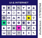 trendy flat design big ui and...   Shutterstock .eps vector #1757802968