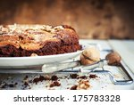 pie brownie from chocolate and... | Shutterstock . vector #175783328
