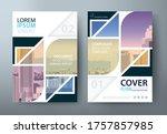 flyer design  leaflet cover... | Shutterstock .eps vector #1757857985