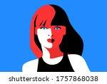 female avatar. full face...