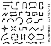 black bold arrows. set of... | Shutterstock . vector #1757871455