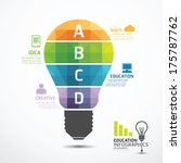 Stock vector infographic template geometric light bulbs banner concept vector illustration 175787762