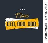 mood ceo  team motivational... | Shutterstock .eps vector #1757879915