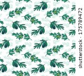 seamless olive vector pattern | Shutterstock .eps vector #175789472