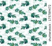 seamless olive vector pattern | Shutterstock .eps vector #175789472