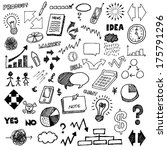 business hand drawn doodles. | Shutterstock .eps vector #175791296