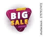 big sale shape background design | Shutterstock .eps vector #1757917472