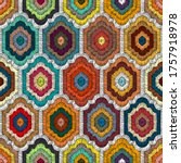 seamless embroidered pattern in ... | Shutterstock .eps vector #1757918978
