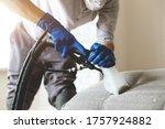 Man Dry Cleaner's Employee Hand ...