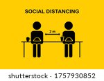 restaurant and social... | Shutterstock .eps vector #1757930852