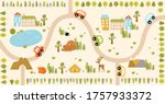 vector forest maze with animals ... | Shutterstock .eps vector #1757933372