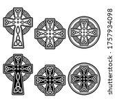 celtic irish cross vector... | Shutterstock .eps vector #1757934098