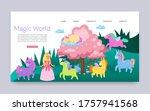 inscription magical world ... | Shutterstock .eps vector #1757941568