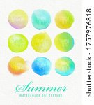 round watercolor frame material ... | Shutterstock .eps vector #1757976818