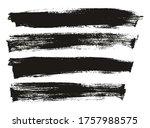 flat paint brush thin long... | Shutterstock .eps vector #1757988575
