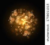 the bokeh effect of light is...   Shutterstock .eps vector #1758011015