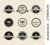 retro labels | Shutterstock .eps vector #175804145