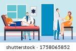 doctor with patient in hospital ... | Shutterstock .eps vector #1758065852