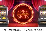 casino free spins  777 slot... | Shutterstock .eps vector #1758075665