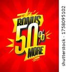 bonus 50  more poster design...   Shutterstock . vector #1758095102
