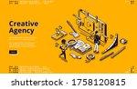 creative agency banner.... | Shutterstock .eps vector #1758120815