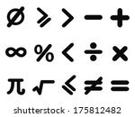 math icons set | Shutterstock .eps vector #175812482