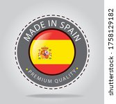 made in spain seal and icon...   Shutterstock .eps vector #1758129182