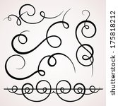 calligraphic decorative... | Shutterstock .eps vector #175818212