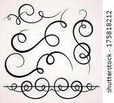 calligraphic decorative... | Shutterstock .eps vector #175818212