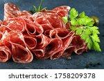 Thinly Sliced Salami. Deliciou...