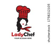 chef woman design isolated on... | Shutterstock .eps vector #1758212105
