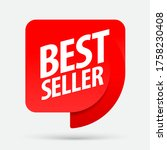 bestseller. an ad for an...   Shutterstock .eps vector #1758230408