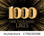 anniversary or event 1000. gold ...   Shutterstock .eps vector #1758230588