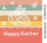 vector   happy easter rabbit...   Shutterstock .eps vector #175824515